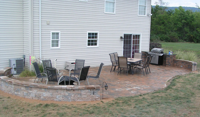 Patio Walls Around Patio Slab : A touch of green gallery